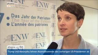 Interview mit Frauke Petry nach dem Treffen der  ENF-Fraktion am 21.01.2017