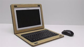 How to make a laptop from a cardboard with your own hands