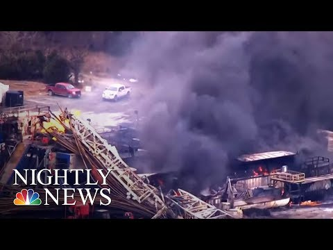 Xxx Mp4 Frantic Search For Missing Workers After Oil Rig Explodes NBC Nightly News 3gp Sex