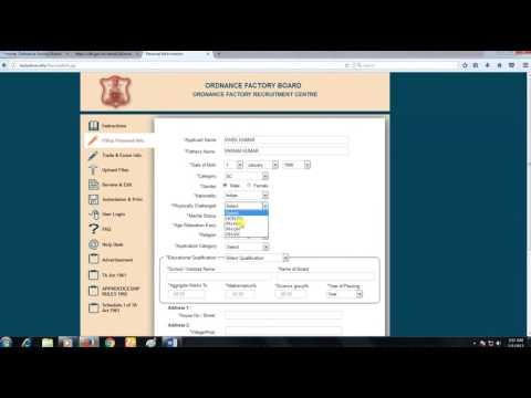 How to Apply for 7048 Trade Apprentice 10th pass (Ordnance Factory Board ) 2017-18
