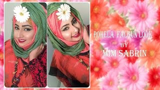 Multi Colored Falgun Look Makeup Tutorial by Mim Sabrin