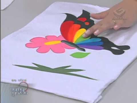 Pintura em camiseta Artesanato Acrilex