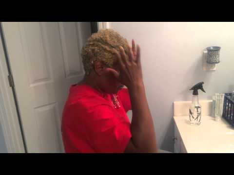 Max Hydration Method on my Mom s 4c BIG CHOPPED hair.