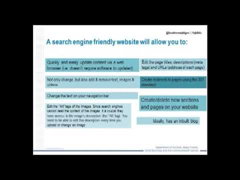 Search engine optimisation - recorded webinar 29 May 2013