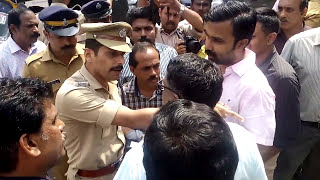 Clash Between Thrissur west police and Dr P.B.Giridas  veterinary Surgeon