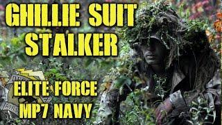 DesertFox Airsoft: Ghillie Suit Stalker (Elite Force MP7 Navy Gas Blow Back)