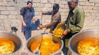 INSANE Pakistani Food VILLAGE WEDDING! - 4000 PEOPLE ULTRA RARE + BREAKFAST Street Food in Pakistan