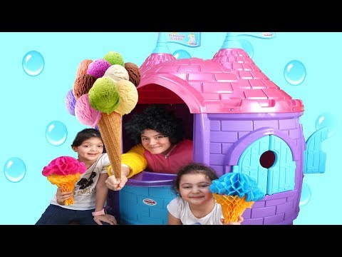 Elif Öykü and Masal Ice Cream Truck Pretend Play with Ice Cream Sing A Along Song fun kid Part 2