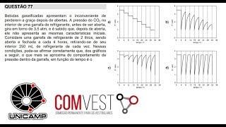 Questão 77 comvest unicamp prova Q e Y