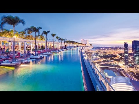 Marina Bay Sands Hotel Singapore full tour spectacular rooftop pool