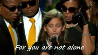 You're not alone Michael Jackson Lyrics