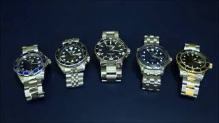 """Automatic Dive Watch Comparison Across 5 """"Tiers"""" - From Invicta to Rolex - Perth WAtch #2"""