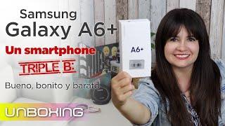 Samsung Galaxy A6 plus (A6+) 2018 unboxing en español y opiniones preliminares