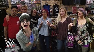 Paige, Charlotte and Sasha Banks cause shenanigans at Hot Topic