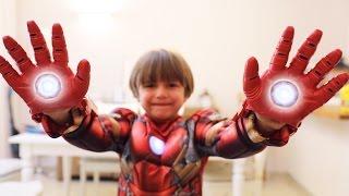 Nerf Like Iron Man vs Batman Shooting Hands Toy from Disney Store - Marvel Avengers Repulsor Gloves