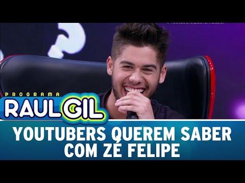 Programa Raul Gil (29/10/16) - Youtubers Querem Saber com Zé Felipe