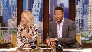 Kelly Ripa Awkwardly Brings Up Michael Strahan's Divorces During 'Live!'