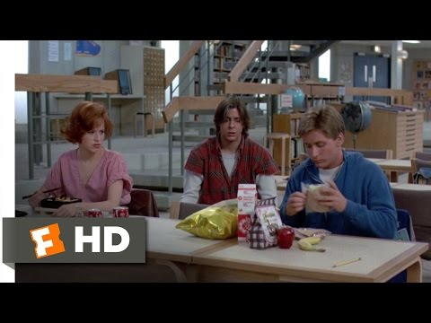 The Breakfast Club 6 8 Movie CLIP Lunchtime 1985 HD