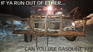 CAN YOU USE GASOLINE TO FIRE UP A DIRTY DIESEL???