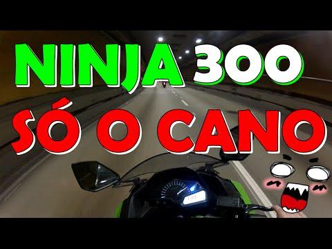 DERRUBANDO O TUNEL | NINJA 300 SÓ O CANO