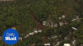 Fifty homes evacuated in Sausalito after massive mudslide