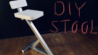 DIY Steel and wood stool