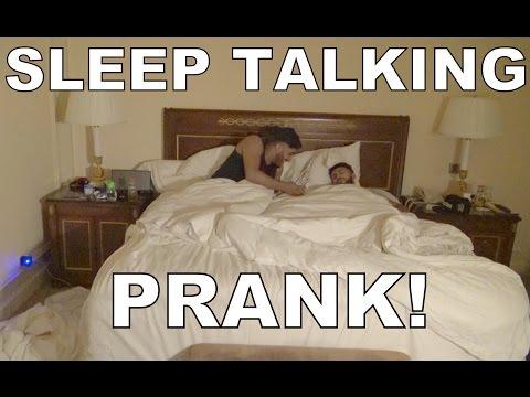 HILARIOUS SLEEP TALKING PRANK!!
