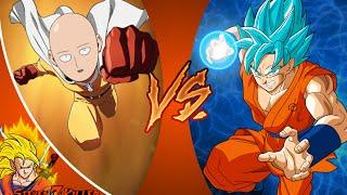 Goku VS Saitama - Part 2 (Dragonball Z VS One Punch Man) REACTION!!!