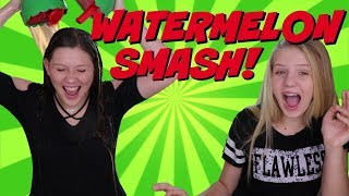 FUN SUMMER GAME CHALLENGE || WATERMELON SMASH || Taylor and Vanessa