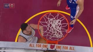 Larry Nance Jr taps ball off backboard and dunks it vs 76ers!