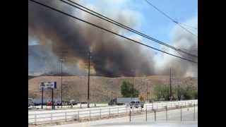 Brush Fire in Lebec, CA. May 15th, 2013