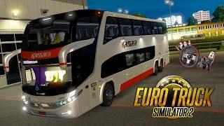 Euro Truck 2 - Viagem de Ônibus Belém-PA x Altamira com Viação Kaissara e Paradiso G7-1800-DD + G27!