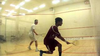 Nabil Saleem of Bates vs Andrew Ward of Bowdoin Game 2
