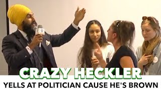 Politician Gets Heckled For Being Brown