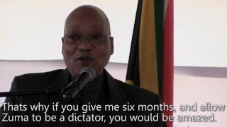 """Quote of the Week: """"If I were a dictator..."""" – Jacob Zuma"""