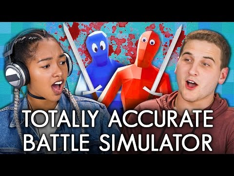 TOTALLY ACCURATE BATTLE SIMULATOR TABS Teens React Gaming