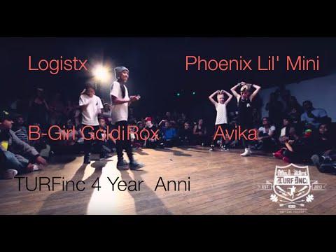 TURFinc   Logistx & B-Girl Goldi Rox vs Avika & Phoenix Lil' Mini   4YEAR Anniversary Dance Battle