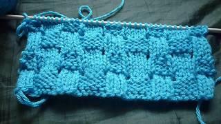 غرزة السلة المخرمة تريكوبطريقة جديدة او نقشة القش Stitch the basket and straw