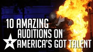 10 Amazing Auditions on America's Got Talent Part 1