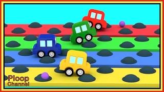 BUMPS RACE Challenge! - Cartoon Cars Videos for Kids - Cartoons for Children - Kids Cars Cartoons