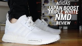 ADIDAS NMD R1 JAPAN BOOST TRIPLE WHITE REVIEW