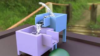 fluid-simulation in Blender 3D-rendered in Sheepit