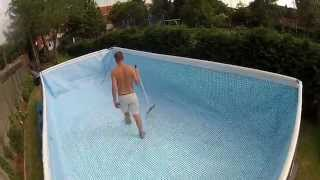 BUILDING A GIANT INTEX SWIMMING POOL