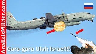 Salahkan Israel, Pesawat Intai Rusia Ditembak Jatuh Rudal Suriah