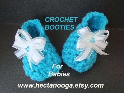 CROCHET PATTERN LITTLE BLUE BABY BOOTIES