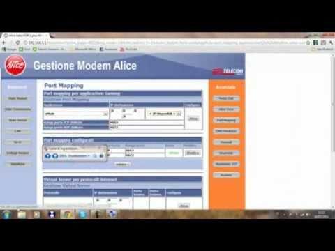 Aprire le porte di eMule e uTorrent su Modem Alice Gate Voip 2 Plus Wi Fi