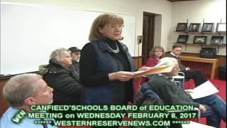 Canfield Schools Peggy Rowe Junior Womens League Presentation to Principals