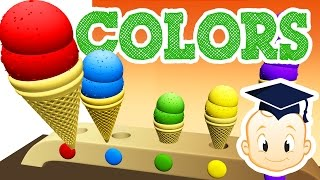 Ice Cream Cartoon | Online Kids Learning Colors | Free Nursery Rhymes | Video for Toddler SmartTodd