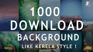 How to Download 1000++ Free Manipulation Background For Editing 1K Special Subscriber