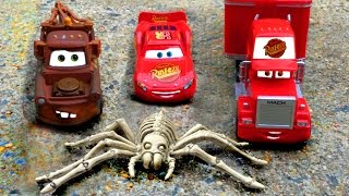 Disney Pixar Cars Lightning McQueen & Mater's AMAZING Discovery Kids Movie Giant Spider Cars Movie!